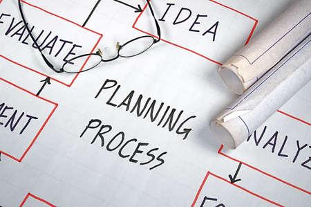 Diagrammes de stratégie d'affaires de l'organisation et des graphiques Banque d'images - 11043456
