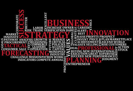 A scramble of business buzz words for backgrounds photo