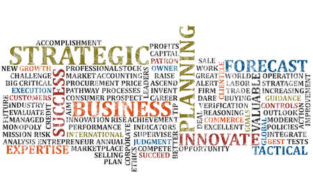 A scramble of business buuz words for background photo