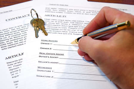 titles: Contract for the sale of a New Home (lorem ipsum - fake text)