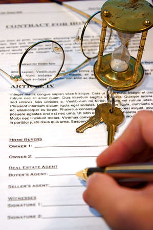 Contract for the sale of a New Home (lorem ipsum - fake text)