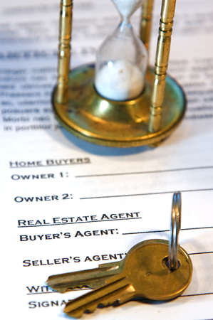 Contract for the sale of a New Home (lorem ipsum - fake text) photo