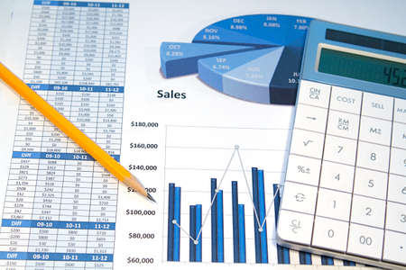 A business strategy using color charts and a calculator