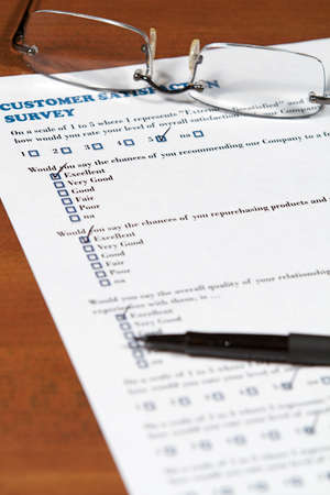 excellent customer service: A business plan and project focusing on the customer Stock Photo