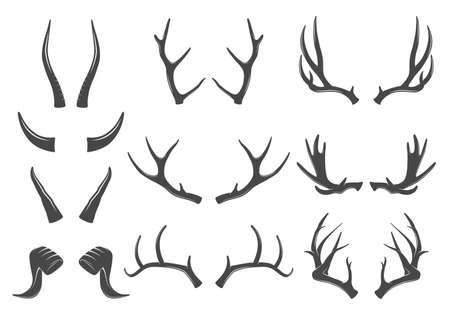 icons: Horns icons Illustration