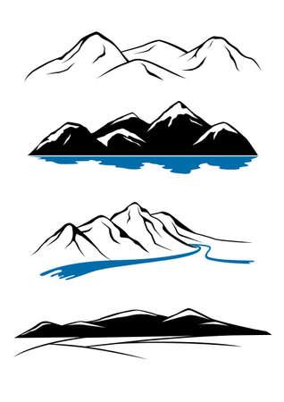 river rock: Mountains