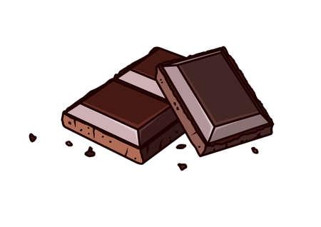 chocolate bars 向量圖像