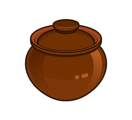 crock: clay pot Illustration