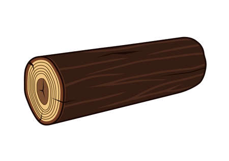 log: wood log Illustration
