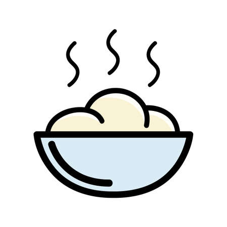 Porridge icons Illustration