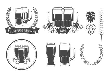 icons: beer icons Illustration