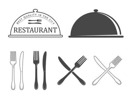 Restaurant emblems and icons Vektorové ilustrace