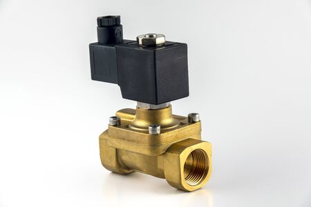General purpose solenoid valve for mechanical installation air water