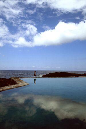 Nature swimming pool in Hermingua, north coast of Gomera