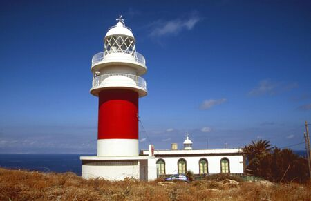 Ancient lighthouse Faro De San Christobal near San Sebastian, Gomera photo