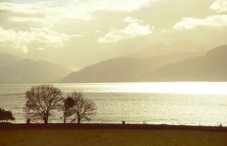 Mild evening light at the Loch Linnhe, Scotish Highlands photo