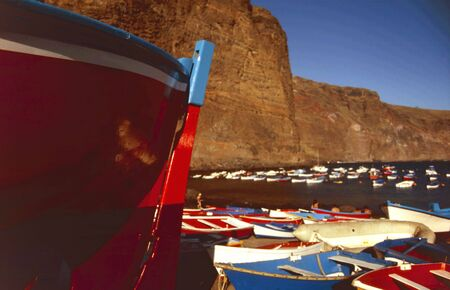 Gorgeous fishing boat in the small harbour of Vueltas in the south of Gomera Stock Photo - 2726850