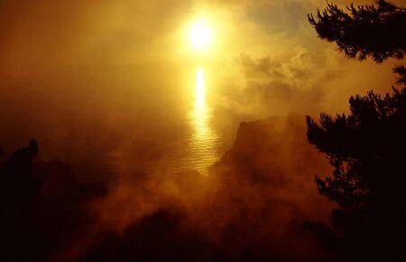 Impressive panorama scenery near Eremita del Santo (Gomera) photo