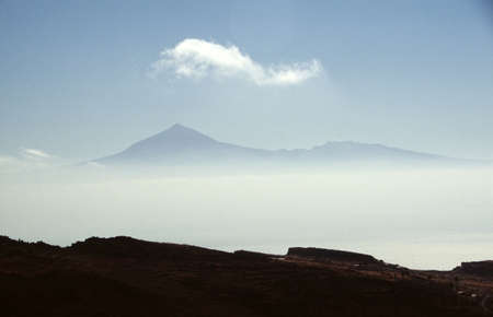 View from Gomera to the hightest mountain of spain photo