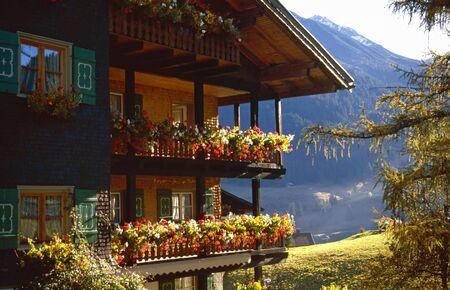 autumnally: Old wooden farm house in  austria