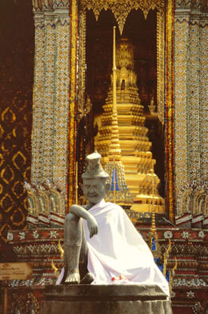 Buddhistic temple keeper statue in the Grand Palace in Bangkok