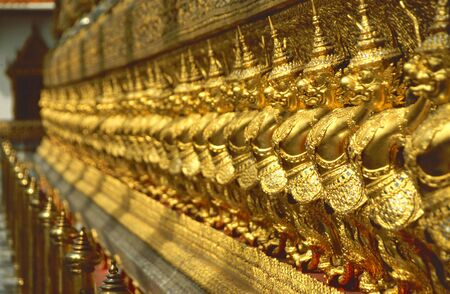Buddhist temple keeper statue in the Grand Palace in Bangkok Stock Photo