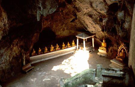 Buddhist statue in cave in Phetchaburi, Thailand photo