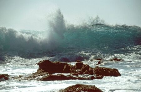 surge: Powerful surge at the Playa Ingles in the south of Gomera  Stock Photo