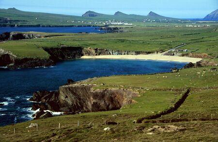 kerry: Cliff coast near Dingle in County Kerry, Ireland Stock Photo