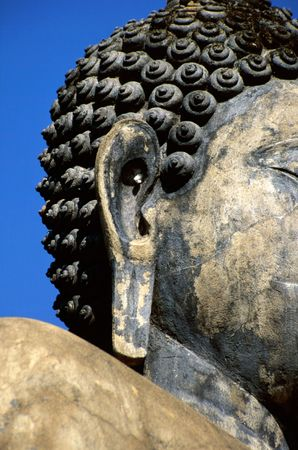 Head of Buddha statue in Ayutthaya History Parc photo