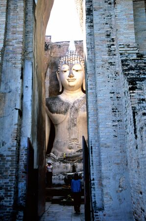Giant Buddha statue near Ayutthaya, Thailand Stock Photo