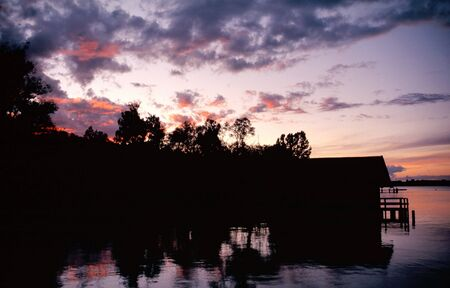 Evening mood at the Chiemsee lake Stock Photo - 4175800