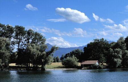 landscape at lake chiemsee, Bavaria photo