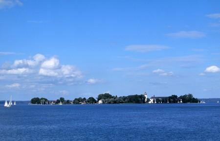 bayern: Die Fraueninsel im Chiemsee in Bayern Stock Photo