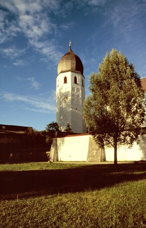 Tower of the monastery on an island in the Chiemsee, Bavaria photo