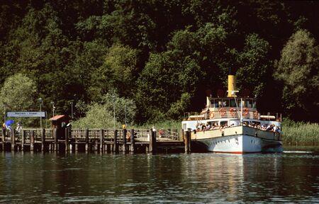 Paddle wheel steamer at Lake Chiemsee, Bavaria photo