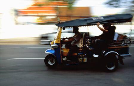 Tuk-Tuk taxi speed trip in Bangkok Stock Photo - 4289391