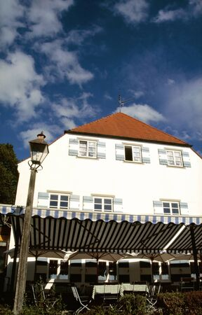 White House on the Fraueninsel in the Chiemsee, Bavaria photo