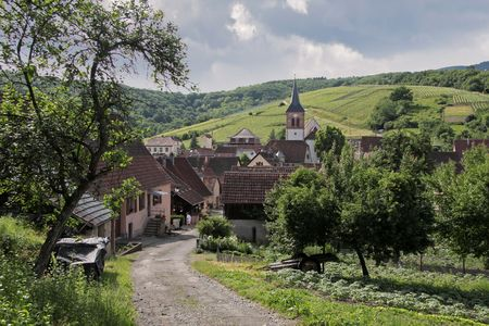Small rural village in Alsace, France Stock Photo - 5351389