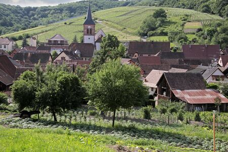 Small rural village in Alsace, France photo