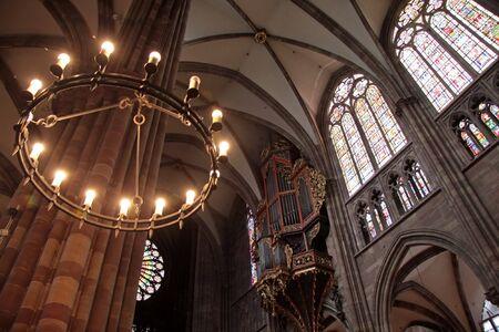 candleholder: Round candleholder of Strasbourg cathedral in Strasbourg, Alsace, France