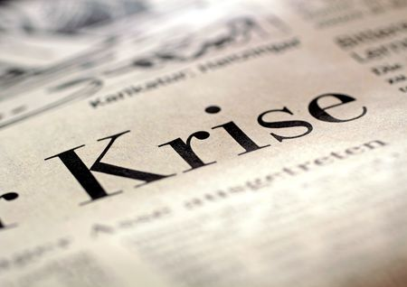 Big headline crisis in German business newspaper 2009 photo