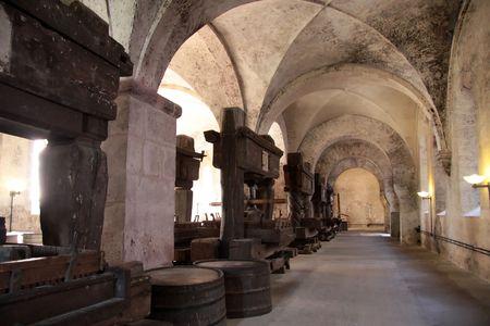 Old arches on vineyard in the Rheingau, Germany photo