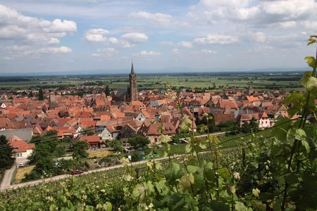 Village with vineyards in Dambach-la-Ville, Alsace, France Stock Photo - 5728619