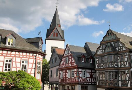Market place in Idstein in Hesse, Germany photo