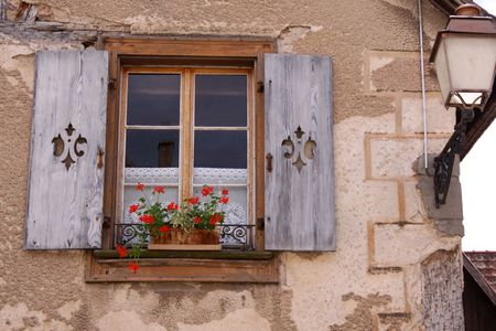 Old window in the village Blienschwiller,  Alsace, France Stock Photo - 6073595