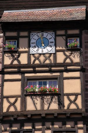 Tower of city wall in Riquewihr, Alsace, France Stock Photo - 6073597