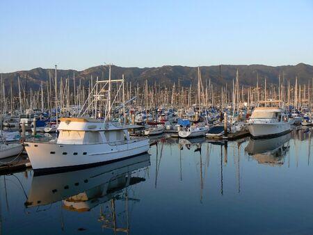 Yacht harbor of Santa Barbara, California, USA Stock Photo