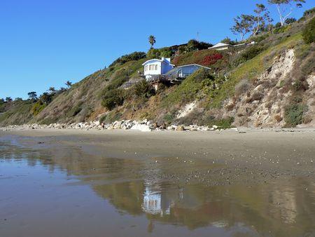 Small villa at the beach near Santa Barbara, California, USA photo