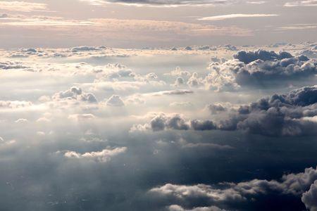 aerial of clouds in the evening Zdjęcie Seryjne